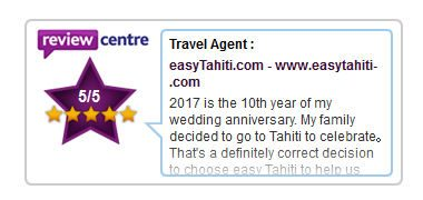 our client's feedback after their vacation in tahiti on our review center